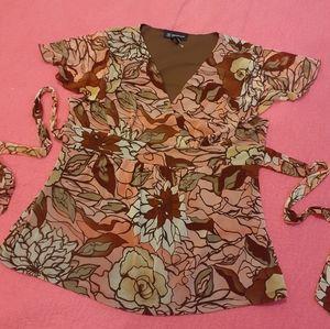 3  for $25- INC Petite Floral Blouse Size Medium